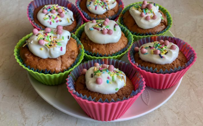 muffinki bez cukru z herbatą matcha